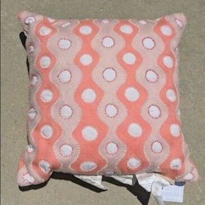 Pottery Barn Kids Coral embroidered beaded pillow
